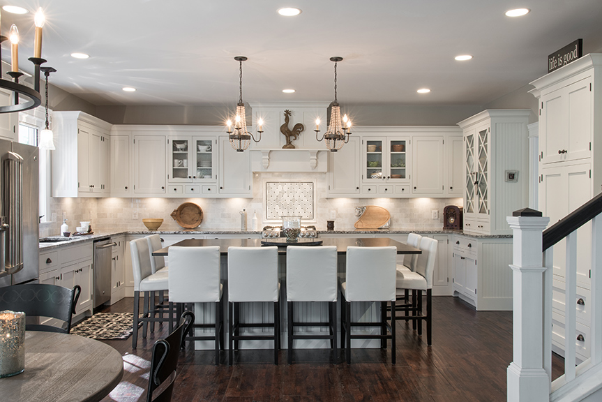 The Whole Kitchen Concept Is Built Around A Large Island That Can Seat  Eight To Host Karen And Bobu0027s Weekly Dinner Gatherings. Rock Creek Granite  Provided ...