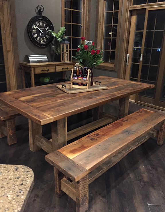 Bon Harvest Table And Benches, Available At Reclaim Renew.